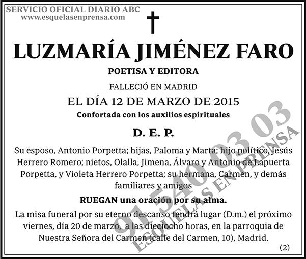 Luzmaría Jiménez Faro